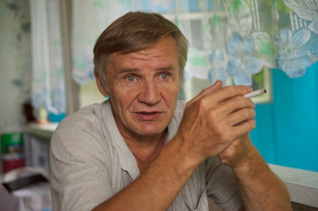 Evgeny Smernov, a wildlife monitor in the Bikin River basin