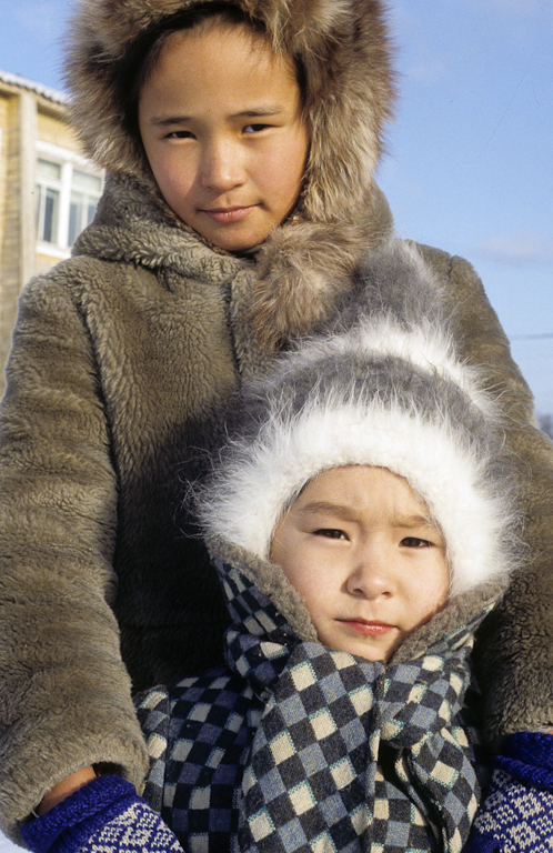Lubasha and Shura Sulingiza in Krasy Yar, Russia, circa 1992