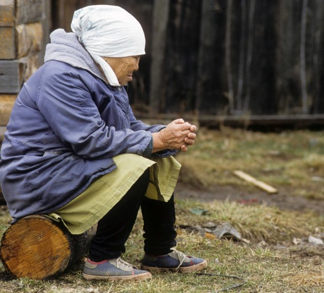 Old woman in Krasny Yar
